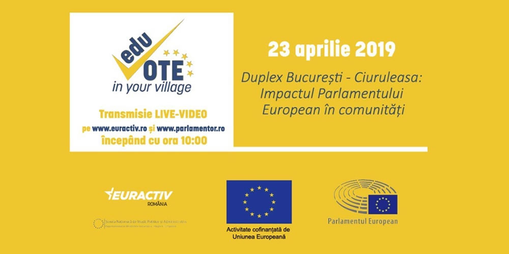 #Time2Vote De la 10:00: Duplex VIDEO LIVE SNSPA București – satul Ciuruleasa, Alba