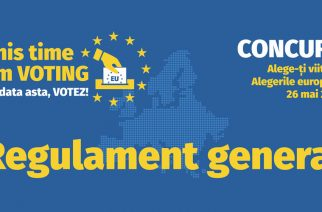 "Regulament general concurs online ""THIS TIME I'M VOTING"""